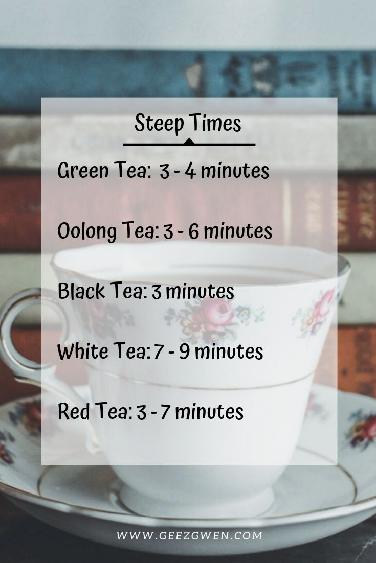 steep times to brew tea