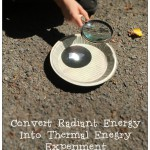 Radiant Energy To Thermal Energy Experiment