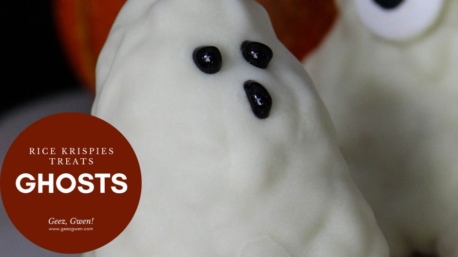 Halloween Treat Ideas Rice Krispies Ghosts
