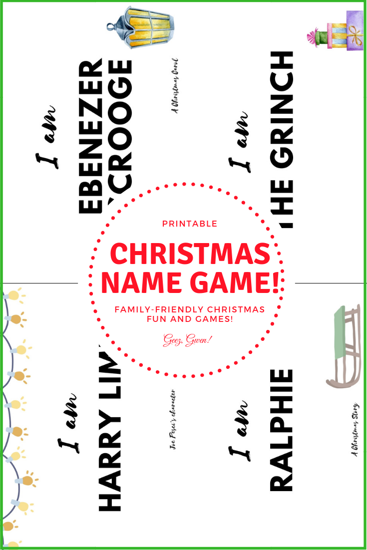 Christmas Name Game Printable