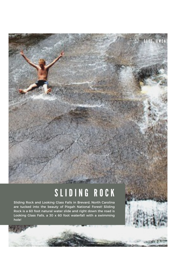Sliding Rock 60 foot natural water slide in Pisgah National Forest