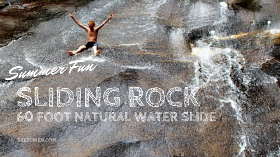 Sliding Rock natural water slide in Brevard