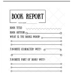 Free Printable Book Report Assignment