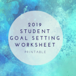 2018 Student Goal Setting Worksheet