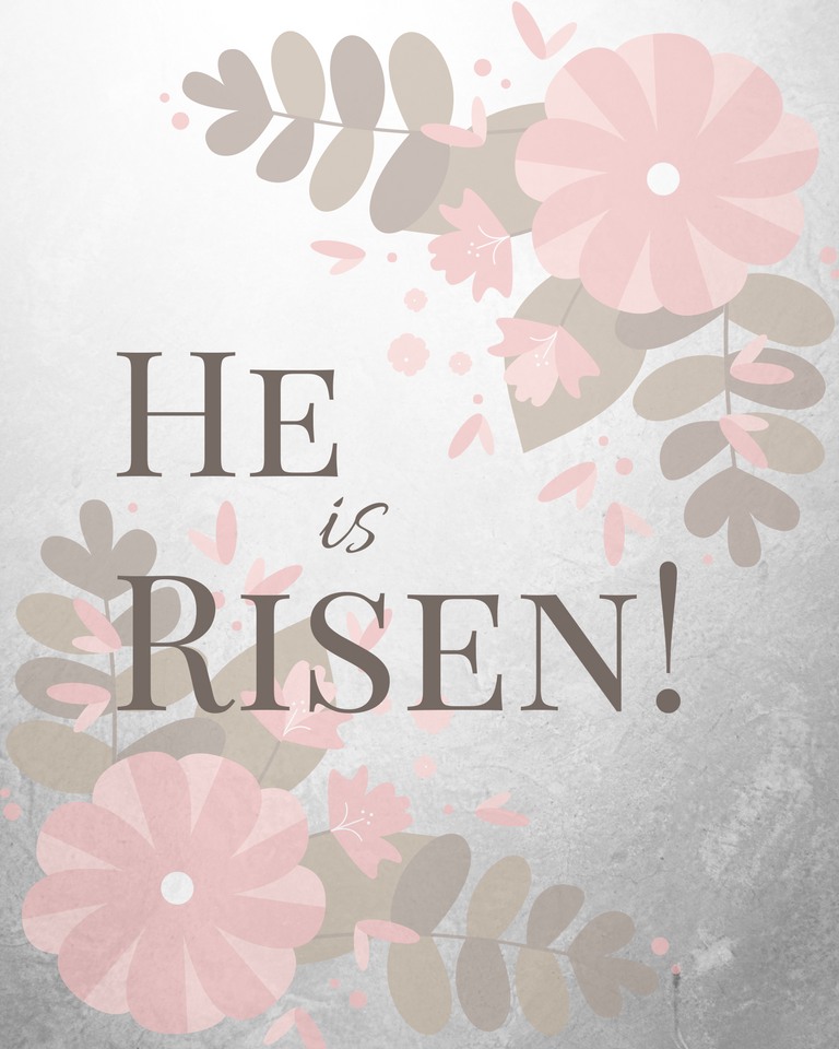 graphic relating to He is Risen Printable named He Is Risen 2 - Geez, Gwen!