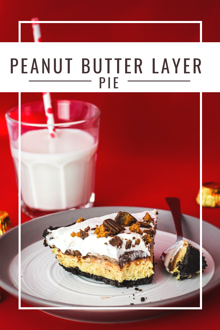 Peanut Butter Layer No Bake Pie