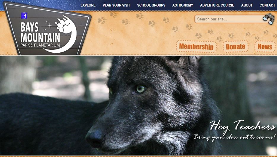 Bays Mountain website