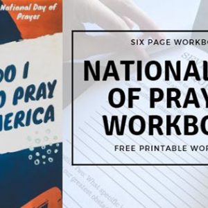 National Day Of Prayer Printable Workbook