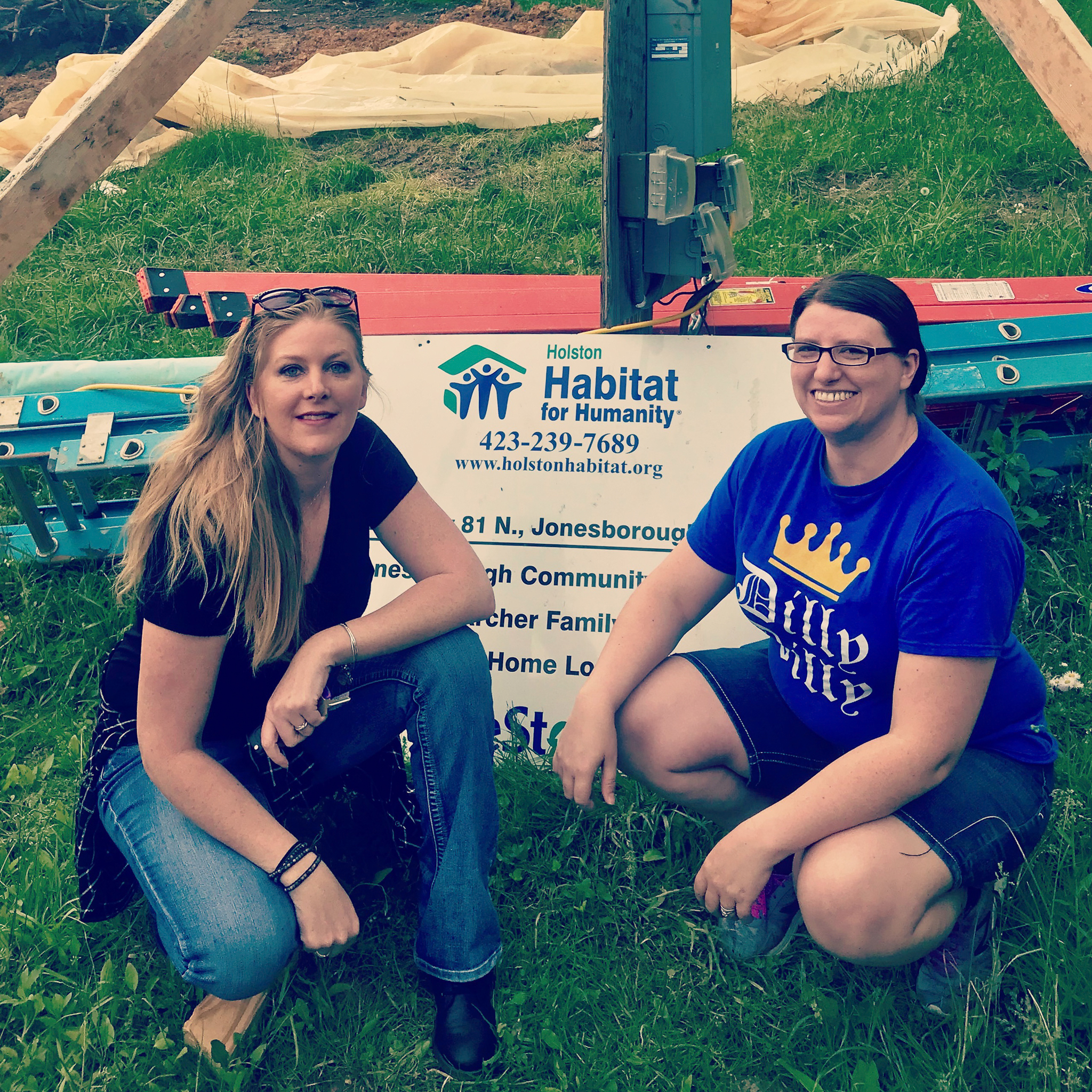 Allison and I at Habitat for Humanity