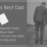 Father's Day Printable – All About Dad