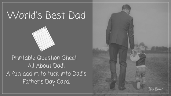 Father's Day Printable Question Worksheet