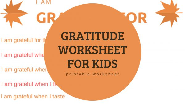 Printable Gratitude Worksheet for Kids