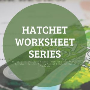 Hatchet Worksheet Series - Printable book report and writing exercises.