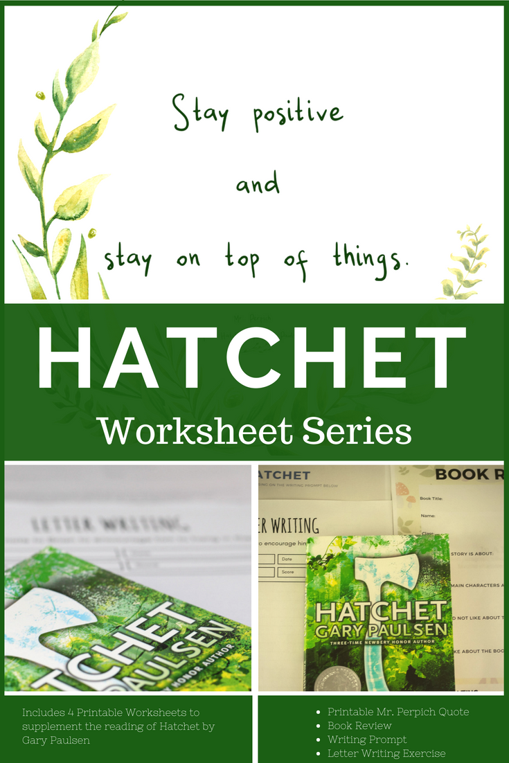 Hatchet Printable Lessons