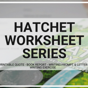 Hatchet Worksheet Printable Collection
