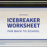 First Day Of School Icebreaker Worksheet