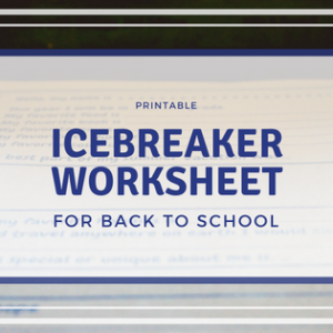 Icebreaker Back to School Worksheet