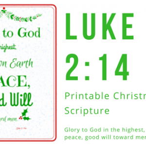Luke 2:14 Christmas Printable