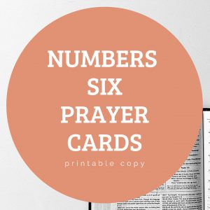 Numbers Six Printable Prayer Cards