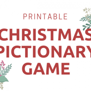 Christmas Pictionary Game