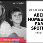 Yay! We Are Abeka's Homeschool Family Spotlight