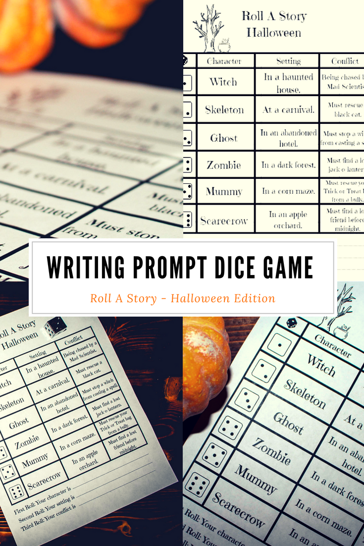 Halloween Writing Prompt Dice Game