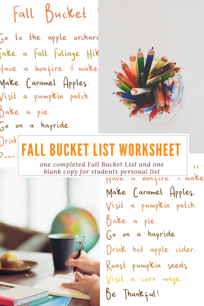 Fall Bucket List Worksheet