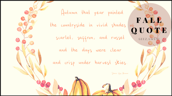 Printable Fall Quote