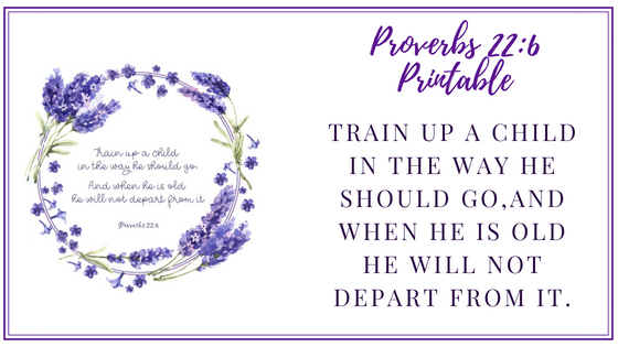 image relating to Printable Scripture titled Proverbs 22:6 Printable Scripture