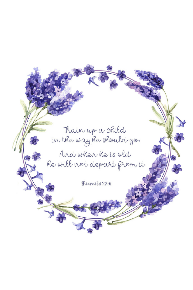 Proverbs 22:6 Printable Scripture