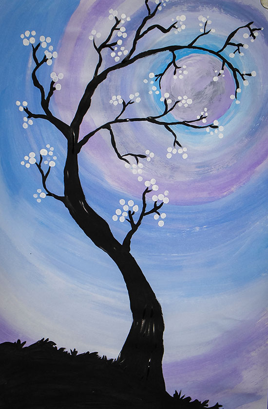 Tree and Moon Painting