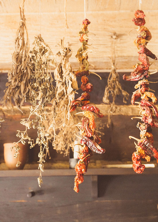 Dried Peppers and Herbs