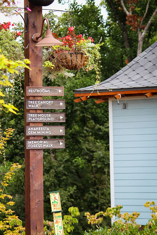 Firefly Village Signs at Anakeesta