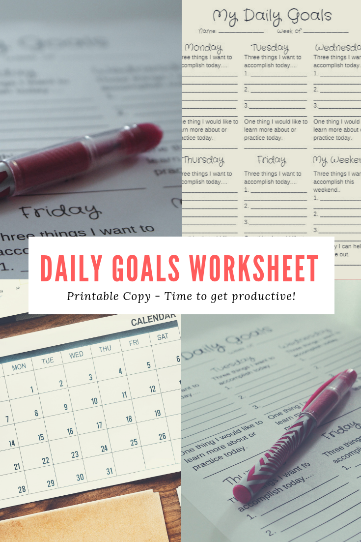 Daily Goals Printable
