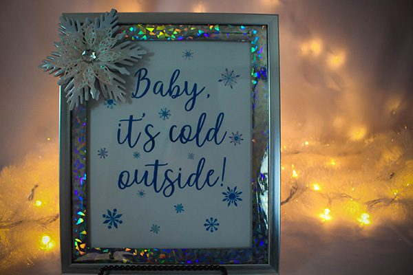 Snowflake Christmas Craft Frame