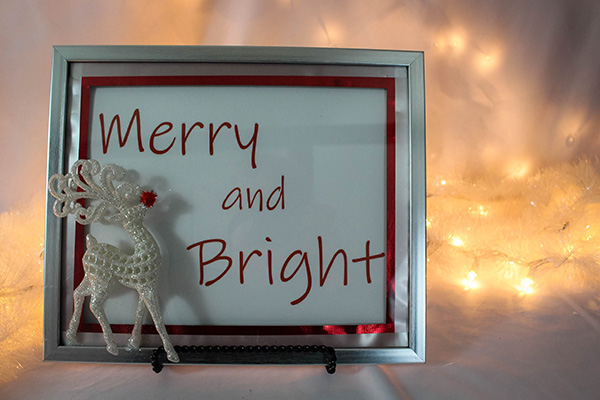 Reindeer Frame Christmas Craft