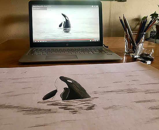 Homeschool Art Whale