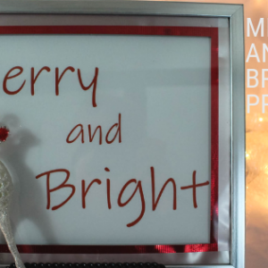 Merry and Bright Christmas Printable 8 x 10