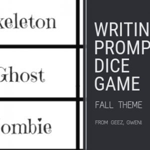 Writing Prompt Dice Game Fall Theme