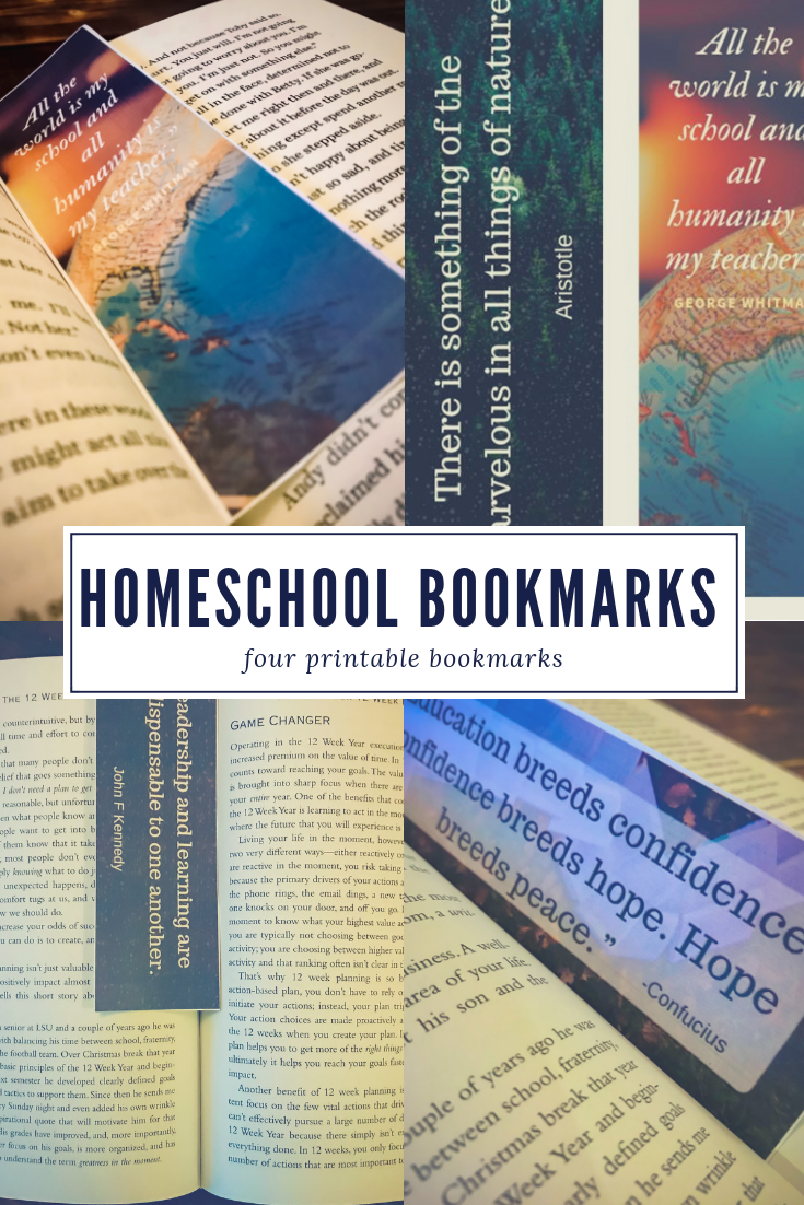 Homeschool Quote Bookmarks