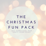 Christmas Fun Homeschool Printable Packet