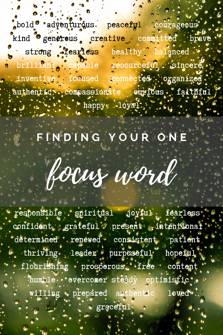 Finding Your Personal Focus Word of the Year