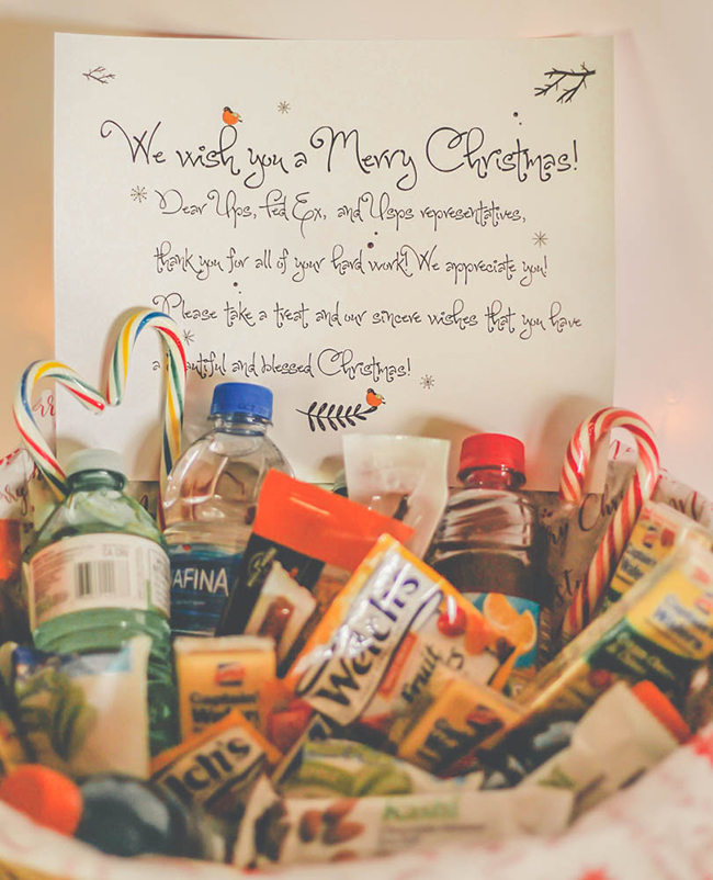 Christmas Delivery Gratitude Basket