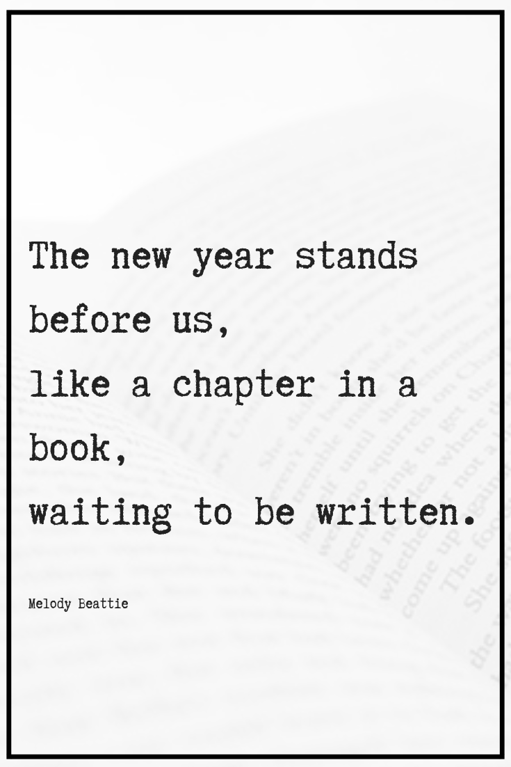New Chapter New Years Quote