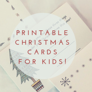 printable Christmas cards for kids to design