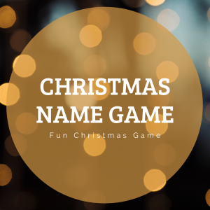 Christmas Name Game Printable Christmas Party Game