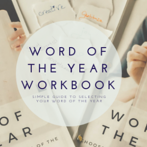 Word of the year workbook
