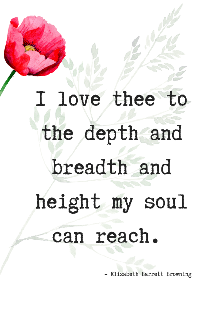 Elizabeth Browning quote on love