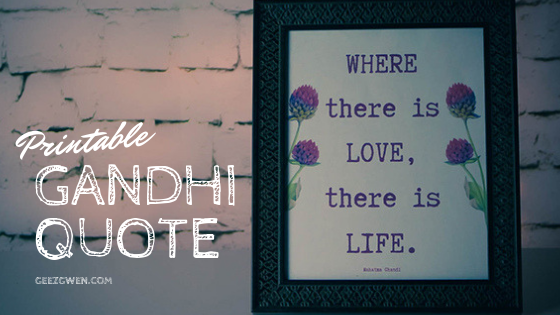 Gandhi Quote Printable