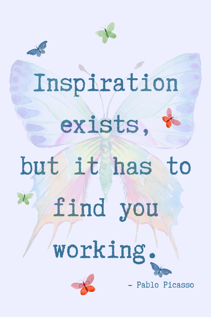 Picasso Quote on Inspiration
